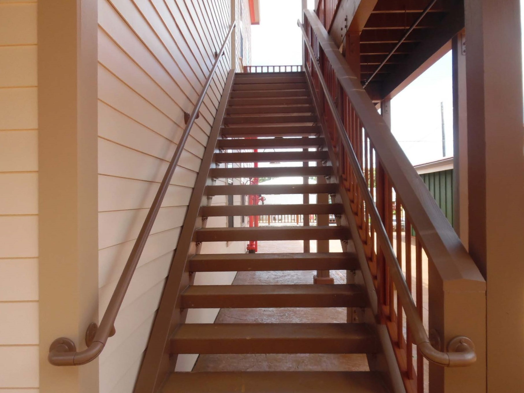 ADA compliant handrail on stairs